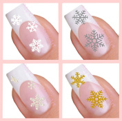 Adhesive Nail Art Stickers Set - Snowflake Collection