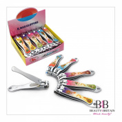 "12 x BIG STAINLESS STEEL HAND TOE NAIL CUTTER CLIPPER TRIMMER ""Romantic"""