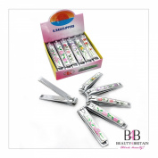 "12 x BIG STAINLESS STEEL HAND TOE NAIL CUTTER CLIPPER TRIMMER ""Flowers"""