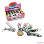 "12 x SMALL STAINLESS STEEL HAND TOE NAIL CUTTER CLIPPER TRIMMER ""Cartoon"""