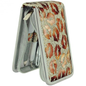 The Olivia Collection Girls - Ladies 6 Piece Manicure Set In Gold Glitter & Bronze Lips Print Case SC998