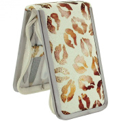 The Olivia Collection Girls - Ladies 6 Piece Manicure Set In White Glitter & Bronze Lips Print Case SC996