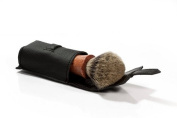Elegant travel leather case for shaving brush