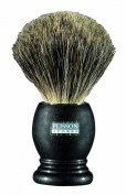 Plissons 955803 Shaving Brush - Size 12 - Anthracite-Coloured Handle with Pure Grey Bristles