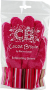 Cocoa Brown Tan Scrub Gloves, Brown Pink