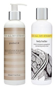 For All My Eternity Gradual 10 Daily Gradual Self Tan Sunless Tanning Lotion Cream 250ml made with CERTIFIED ORGANIC DHA & ALOE VERA + Sweet Orange & Grapefruit Body Buffer Exfoliating Body Scrub 250ml made with Natural Extracts