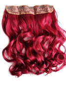 PRETTYSHOP 60cm One Piece-Full Head Clip In Hair Extensions Hairpiece Ponytail Curled Wavy Heat-Resisting