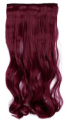 Stylish 17 Inches (43cm) Curly 3/4 Full Head One Piece 5 Clips Clip in Hair Extension Extensions 10 Colours