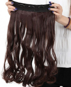 S-noilite Stylish 17 Inches (43cm) Curly 3/4 Full Head One Piece 5 Clips Clip in Hair Extension Extensions 10 Colours