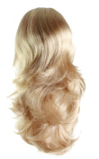50cm Curly 3 4 Wig Hair Piece Extension 24 Golden Blond