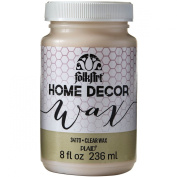 FOLKART Plaid 34170 Home Decor Wax, 240ml, Clear