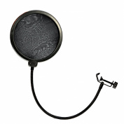 Ewin24 Professional Mpf-6 15cm Clamp On Microphone Pop Filter-Black