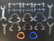 18 Kits in One Dental Intraoral Cheek and Lip Retractor for Teeth Whitening by EDDE Dental