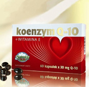 Coenzyme Q-10 + Vitamin E - 120 capsules - Coenzyme Q10 is one of the most important components of the respiratory chain in the cells of the human body. Due to the content of vitamin E the formulation has antioxidant properties and thus helps to protec ..