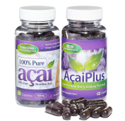 Acai Plus Extreme Formula & 100% Pure Acai Berry 700mg Combo Pack 1 Month Supply