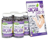 100% Pure Acai Berry 700mg No Fillers Quad Pack 120 Day Supply + Free Acai Patches