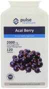 Pulse Healthcare 2000mg Acai Berry Freeze Dried Slimming Aid Premium Quality GMP Supplement - Pack of 120 Capsules