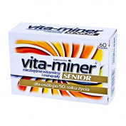 Vita-miner Senior - 60 tablets - is a kit composed of vitamins and minerals for people over the age of 50 years.