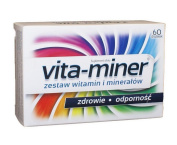 VITA-MINER - 60 tablets - Perfectly balanced composition of vitamins and minerals. Contains the compounds necessary for proper functioning of the organism. When given regularly, helps to maintain health.