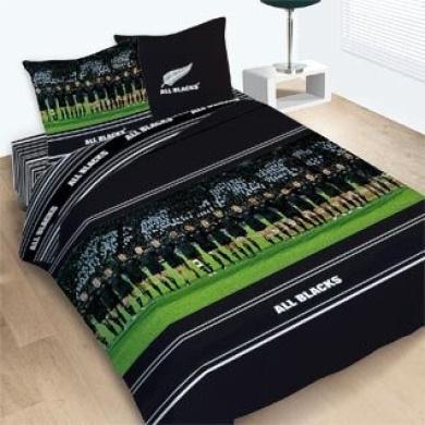 Duvet Cover Bed Set Reversible All Blacks Rugby Team