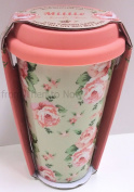 Vintage Floral Insulated Double Walled Travel Ceramic Mug Millie