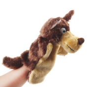 Homgaty Dark-Brown Long-haired wolf Animal Hand Puppets The Perfect Birthday, Christmas Gift