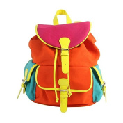 Klevering Summer Kids Adults Bright Retro Neon Multi-Coloured Backpack Rucksack
