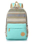 Teenager Girls Boys fashion Stripe Pattern Canvas School Bag Outdoor Leisure Knapsack (11 Great Colours)