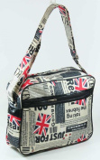 Union Jack Flag Newspaper Print Shoulder Bag