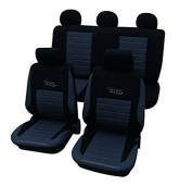 Cartrend 60122- Seat Cover Complete Set Vision Silver with Doku Stitching
