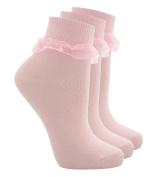 TICK TOCK COTTONIQUE Baby & Girls Socks Cute Frilly Ruffle Organza Lace School