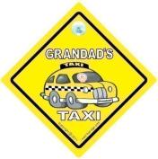 GRANDAD's TAXI Car Sign, Baby on Board Style Car Safety / Novelty Car Window Sign, Grandad Car Sign, Grandad's Car Sign