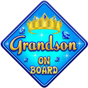 TORQ GRANDSON Baby on Board Car Window Sign