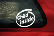 Child inside sticker - baby on board car sign