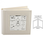 Juliana Baby Photo Album with Silverplated ABCD - 10cm x 15cm