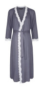 Radiance Dresssing Gown (Maternity & Breastfeeding) in Dove Grey (Small
