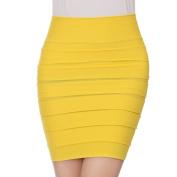 Hee Grand Womens Sexy Bodycon Wrinkles Short Skirt