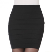 Hee Grand Womens Sexy Bodycon Wrinkles Short Skirt