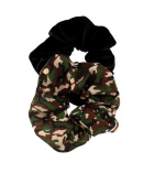 Zac's Alter Ego® Set of 2 Hair Scrunchies - One Camouflage and One Black Velvet