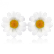 White Daisy Flower hair clips / brooches, includes clip for hair and pinn for brooch