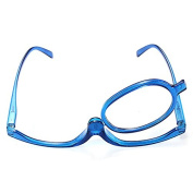 Blue Magnifying Makeup Glasses With Flip Over Lens