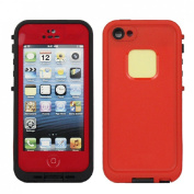 PC Waterproof Shockproof Dirt Dust Proof Hard Cover Case For Apple iPhone 5 5S Colour=Red