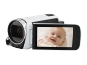 Canon Legria HF R606 Camcorder - White (3.28 MP, 32x Optical Zoom, 57x Advanced Zoom, Wi-Fi and NFC) 7.6cm LCD