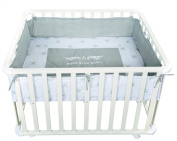 roba Rock Star Baby 2 0241W RS2 Playpen 75 x 100 cm White