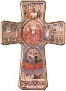 39cm HOLY SPIRIT WOOD CRUCIFIX Cross Wall Hanging BW9101
