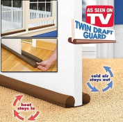 Dual Draught Guard For Doors And Windows Door Stopper Energy Saver***NEW