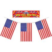USA Plastic Flag Bunting - Single