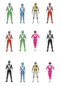 12 Stand Up Power Rangers Edible Premium Wafer Paper Cake Toppers