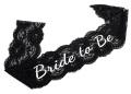 Elegant Black Lace Hen Night Party Sash