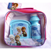 Disney Frozen Lunch Bag, Keyring, Bottle & Sandwhich Box Set